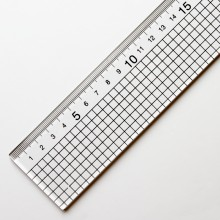 Jakar : Acrylic Ruler With Stainless Steel Edge : 1m