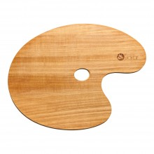 Jakar : Varnished Oval Walnut Palette : 30x40cm