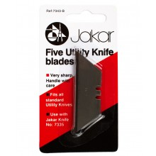 Jakar : Heavy Duty Utility Knife : Spare Blades 5 pack : for no. A7335 / 7335