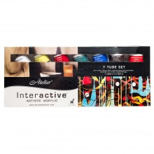 Atelier : Interactive : Artists' Acrylic Paint : 80ml : Set of 7
