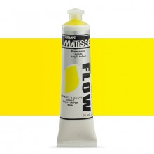 Derivan : Matisse Flow : Acrylic Paint : 75ml : Primary Yellow