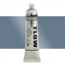 Derivan : Matisse Flow : Acrylic Paint : 75ml : Metallic Silver