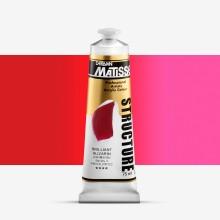 Derivan : Matisse Structure : Acrylic Paint : 75ml : Brilliant Alizarin