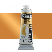 Derivan : Matisse Structure : Acrylic Paint : 75ml : Metallic Gold