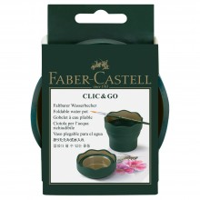 Faber Castell : Clic & Go Foldable Water Pot & Brush Holder : Green