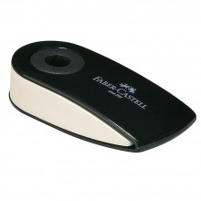 Faber Castell : Faber White Eraser with Black Swivel Sleeve : Small