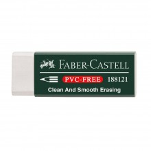 Faber Castell : White Vinyl Eraser with Sleeve