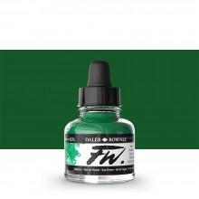 Daler Rowney : FW Artists' Ink : 29.5ml : Sap Green