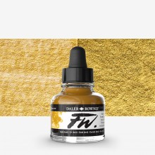 Daler Rowney : FW Artists' Ink : 29.5ml : Gold (Imitation)