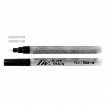 Daler Rowney : FW Mixed Media Paint Marker : Hard Point 1mm : Pack of 2 & Nibs