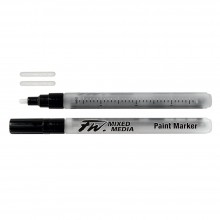 Daler Rowney : FW Mixed Media Paint Marker : Small Round 1-2mm : Pack of 2 & Nibs