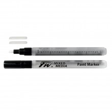 Daler Rowney : FW Mixed Media Paint Marker : Chisel 1-3mm : Pack of 2 & Nibs