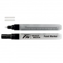 Daler Rowney : Fw Mixed Media Paint Marker : Round 1-2Mm : Pack Of 2 & Nibs