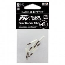 Daler Rowney : FW Mixed Media Paint Marker Nib : Tech : Pack of 8