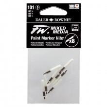 Daler Rowney : FW Mixed Media Paint Marker Nib : Tech : Pack of 8