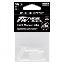 Daler Rowney : FW Mixed Media Paint Marker Nib : Hard Point : Pack of 10