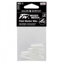 Daler Rowney : FW Mixed Media Paint Marker Nib : Round 1-2mm : Pack of 12