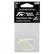 Daler Rowney : FW Mixed Media Paint Marker Nib : Chisel 1-3mm : Pack of 12