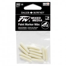 Daler Rowney : FW Mixed Media Paint Marker Nib : Round 2-4mm : Pack of 12