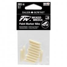 Daler Rowney : FW Mixed Media Paint Marker Nib : Chisel 2-4mm : Pack of 12