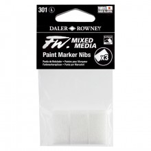 Daler Rowney : FW Mixed Media Paint Marker Nib : Large 8-15mm : Pack of 3