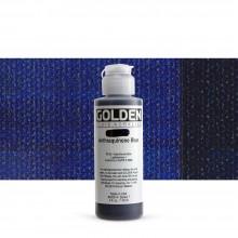 Golden : Fluid Acrylic Paint : 119ml (4oz) : Anthraquinone Blue