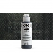 Golden : Fluid : Acrylic Paint : 119ml (4oz) : Bone Black