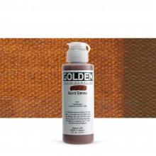 Golden : Fluid : Acrylic Paint : 119ml (4oz) : Burnt Sienna