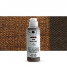 Golden : Fluid Acrylic Paint : 119ml (4oz) : Burnt Umber Light
