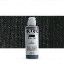 Golden : Fluid : Acrylic Paint : 119ml (4oz) : Carbon Black