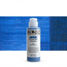 Golden : Fluid : Acrylic Paint : 119ml (4oz) : Cerulean Blue Chromium