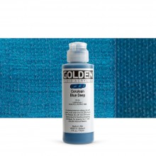 Golden : Fluid : Acrylic Paint : 119ml (4oz) : Cerulean Blue Deep