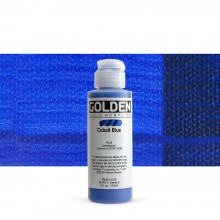 Golden : Fluid : Acrylic Paint : 119ml (4oz) : Cobalt Blue
