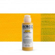 Golden : Fluid : Acrylic Paint : 119ml (4oz) : Diarylide Yellow