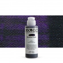 Golden : Fluid : Acrylic Paint : 119ml (4oz) : Dioxazine Purple