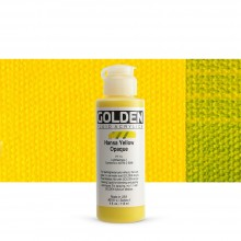 Golden : Fluid Acrylic Paint : 119ml (4oz) : Hansa Yellow Opaque