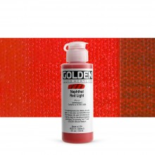 Golden : Fluid : Acrylic Paint : 119ml (4oz) : Naphthol Red Light