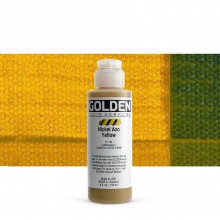 Golden : Fluid Acrylic Paint : 119ml (4oz) : Nickel Azo Yellow