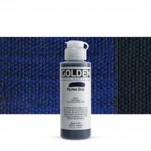 Golden : Fluid : Acrylic Paint : 119ml (4oz) : Paynes Grey