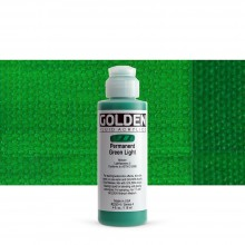 Golden : Fluid Acrylic Paint : 119ml (4oz) : Permanent Green Light
