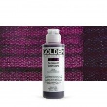 Golden : Fluid : Acrylic Paint : 119ml (4oz) : Permanent Violet Dark