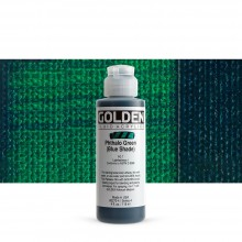 Golden : Fluid Acrylic Paint : 119ml (4oz) : Phthalo Green Blue Shade