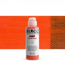 Golden : Fluid : Acrylic Paint : 119ml (4oz) : Pyrrole Orange