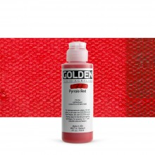 Golden : Fluid Acrylic Paint : 119ml (4oz) : Pyrrole Red
