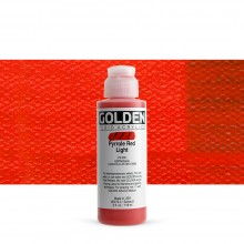 Golden : Fluid : Acrylic Paint : 119ml (4oz) : Pyrrole Red Light