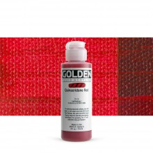 Golden : Fluid : Acrylic Paint : 119ml (4oz) : Quinacridone Red