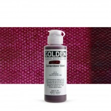 Golden : Fluid : Acrylic Paint : 119ml (4oz) : Quinacridone Violet