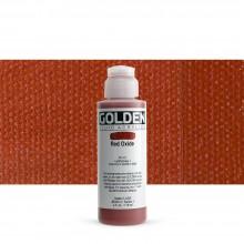Golden : Fluid : Acrylic Paint : 119ml (4oz) : Red Oxide