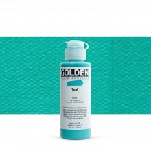 Golden : Fluid : Acrylic Paint : 119ml (4oz) : Teal III