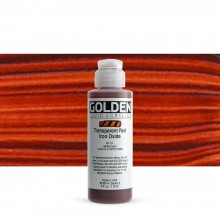 Golden : Fluid Acrylic Paint : 119ml (4oz) : Transparent Red Iron Oxide